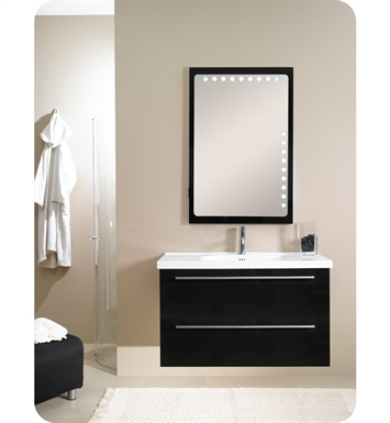 Nameeks FL7-GB Iotti Modern Bathroom Vanity Set from Fly Collection With Finish: Glossy Black