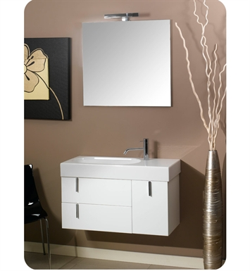 Nameeks NE1-GG Iotti Modern Bathroom Vanity Set from Enjoy Collection With Finish: Glossy Gray