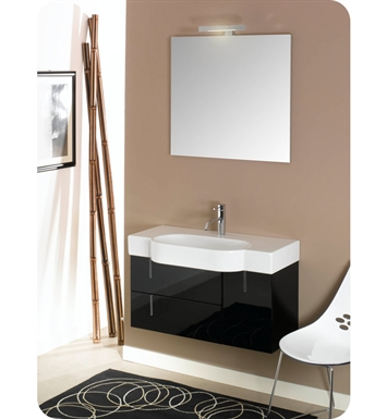 Nameeks NE2-GG Iotti Modern Bathroom Vanity Set from Enjoy Collection With Finish: Glossy Gray