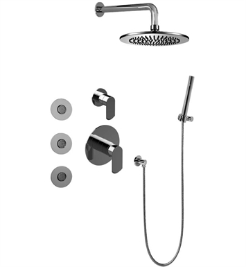 Graff GB5.122A-LM45S-PN Phase Full Thermostatic Shower System with Diverter Valve with Rough and Trim With Finish: Polished Nickel