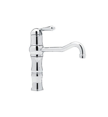 Rohl A3479LP-STN Single Hole Country Kitchen Faucet With Finish: Satin Nickel And Handles: Porcelain Lever Handles