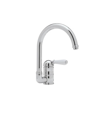Rohl A3606LM-STN C-Spout Country Kitchen Faucet With Finish: Satin Nickel And Handles: Metal Lever Handles