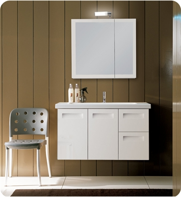 Nameeks NG3-NO Iotti Modern Bathroom Vanity Set from Integral Collection With Finish: Natural Oak