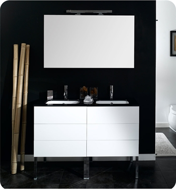 Nameeks NT1-W Iotti Modern Bathroom Vanity Set from Time Collection With Finish: Wenge