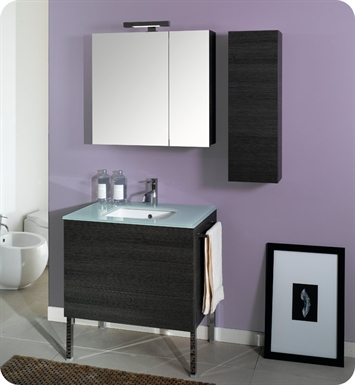 Nameeks NT2-W Iotti Modern Bathroom Vanity Set from Time Collection With Finish: Wenge