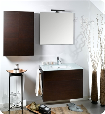 Nameeks NT5-NO Iotti Modern Bathroom Vanity Set from Time Collection With Finish: Natural Oak