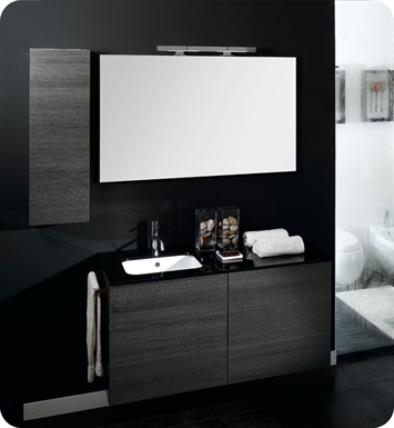 Nameeks NT6-W Iotti Modern Bathroom Vanity Set from Time Collection With Finish: Wenge