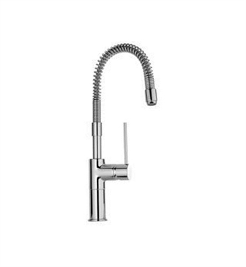 LaToscana 78558PW Elba Kitchen Faucet with Spring Spout and Metal Lever Handle With Finish: Brushed Nickel