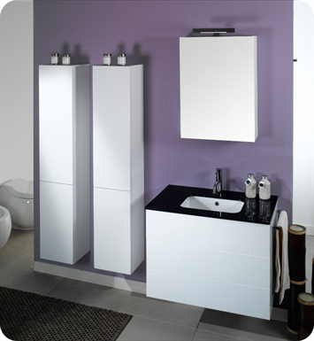 Nameeks NT7-GW Iotti Modern Bathroom Vanity Set from Time Collection With Finish: Glossy White