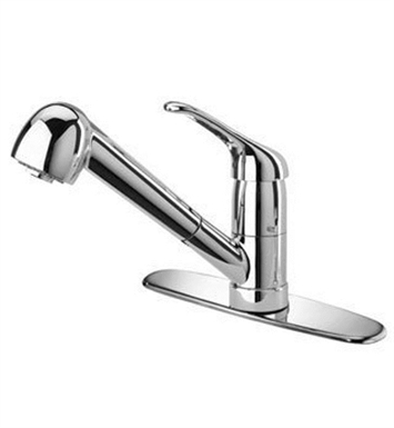 LaToscana DA564PW Dante Kitchen Faucet with Pull Out Swivel Spout With Finish: Brushed Nickel