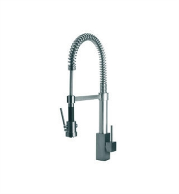 LaToscana 84557LFEXPW Dax Kitchen Faucet with Pull Down Spring Spout With Finish: Brushed Nickel