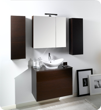 Nameeks NT9-W Iotti Modern Bathroom Vanity Set from Time Collection With Finish: Wenge