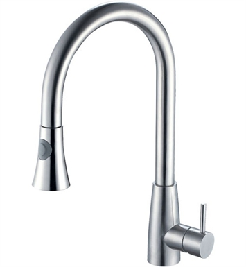 ALFI Brand AB2034-BSS Pull Down Single Hole Kitchen Faucet in Brushed Stainless Steel