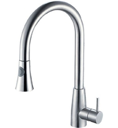Alfi Pull Down Single Hole Kitchen Faucet in Polished Stainless Steel