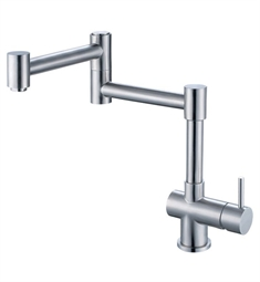 Alfi Retractable Single Hole Kitchen Faucet in Brushed Stainless Steel