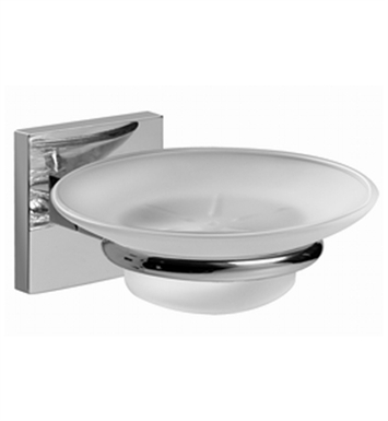 Graff G-9101-PC/BK Soap Dish and Holder With Finish: Architectural Black w/ Chrome Accents