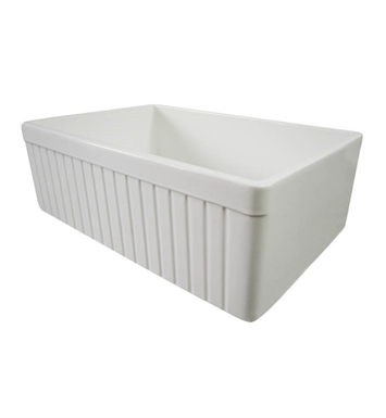 Alfi AB509-B Single Basin Farmhouse Fireclay Kitchen Sink in Biscuit