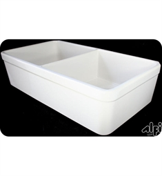 Alfi AB512-B 32 Inch Double Bowl Fireclay Farmhouse Kitchen Sink in Biscuit