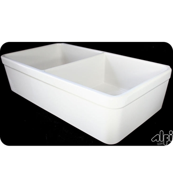 ALFI Brand AB512-B 32 Inch Double Bowl Fireclay Farmhouse Kitchen Sink in Biscuit
