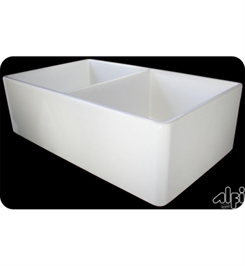ALFI Brand AB538-B Double Bowl Fireclay Farmhouse Kitchen Sink in Biscuit