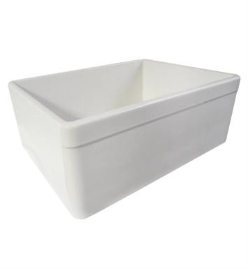 ALFI Brand AB506-B Decorative Lip Single Bowl Fireclay Farmhouse Kitchen Sink in Biscuit