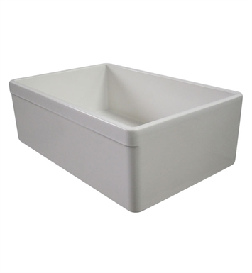 ALFI Brand AB511-B Decorative Lip Single Bowl Fireclay Farmhouse Kitchen Sink in Biscuit