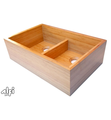 ALFI Brand AB3321 Double Bowl Bamboo Kitchen Farm Sink