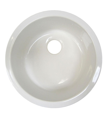 ALFI Brand AB1818R Round Fireclay Undermount/Drop In Kitchen Sink