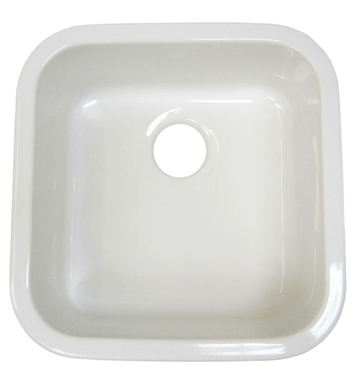 ALFI Brand AB1818S [DISCONTINUED] ALFI AB1818S Square Fireclay Undermount/Drop In Kitchen Sink