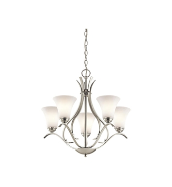 Kichler 43504NI Keiran 5 Light Chandelier in Brushed Nickel