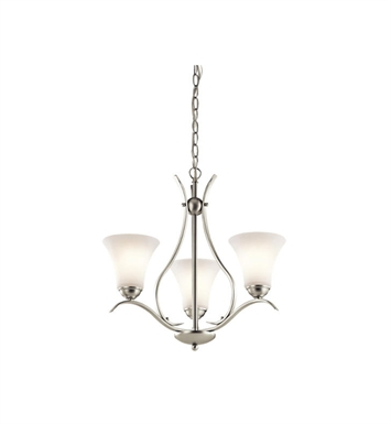 Kichler 43503NI Keiran 3 Light Chandelier in Brushed Nickel