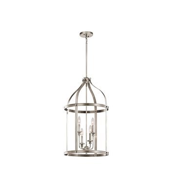 Kichler 43107CLP Steeplechase 4 Light Pendant With Finish: Classic Pewter