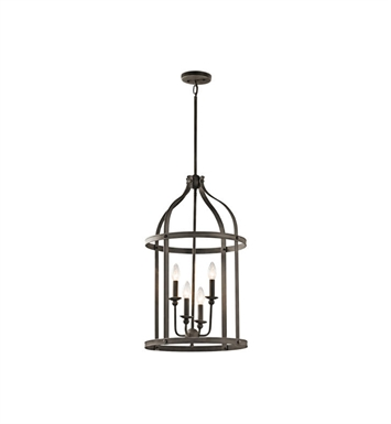 Kichler 43107OZ Steeplechase 4 Light Pendant in Olde Bronze