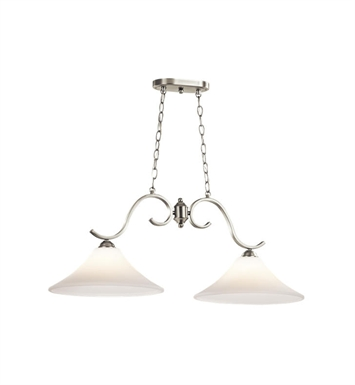 Kichler 43508NI Keiran 2 Light Island Chandelier in Brushed Nickel