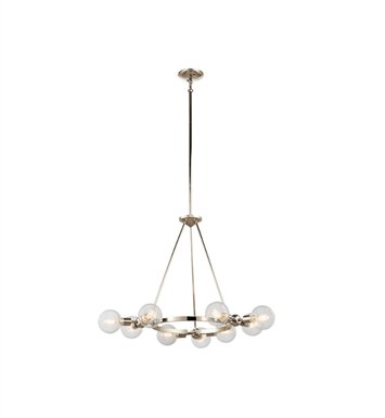Kichler 42474PN Garim 9 Light Chandelier in Polished Nickel