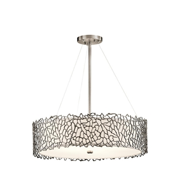 Kichler 43347CLP Silver Coral 4 Light Chandelier-Pendant in Classic Pewter
