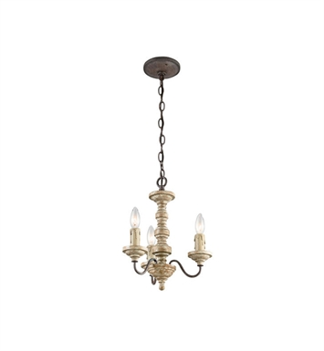 Kichler 43469VWW Briellis 3 Light Chandelier-Semi Flush