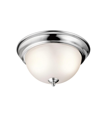 Kichler 8111CH 2 Light Flush Mount Ceiling Light in Chrome