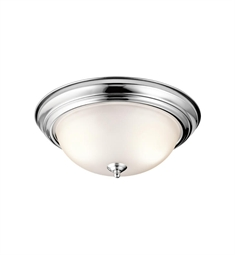 Kichler 3 Light Flush Mount Ceiling Light in Chrome