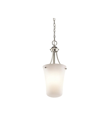 Kichler 43509NI Keiran 1 Light Foyer Pendant in Brushed Nickel