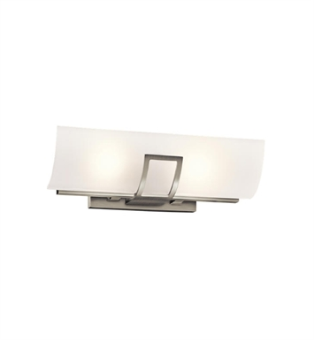 Kichler 45533NI Tryloni 2 Light Linear Bath Light in Brushed Nickel