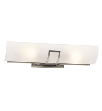 Kichler 45535NI Tryloni 2 Light Linear Bath Light in Brushed Nickel