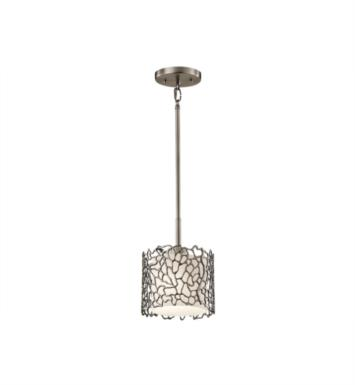 Kichler 43349CLP Silver Coral 1 Light Incandescent Mini Pendant in Classic Pewter