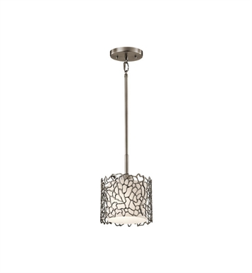 Kichler 43349CLP Silver Coral 1 Light Mini Pendant in Classic Pewter