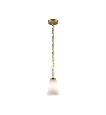 Kichler 43546NBR Rossington 1 Light Mini Pendant in Natural Brass