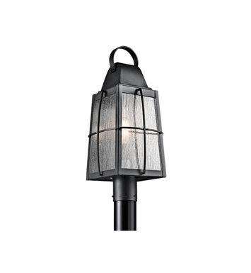 Kichler 49555BKT Tolerand 1 Light Outdoor Post Mount in Textured Black