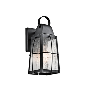 Kichler 49554BKT Tolerand 1 Light Outdoor Wall Light in Textured Black