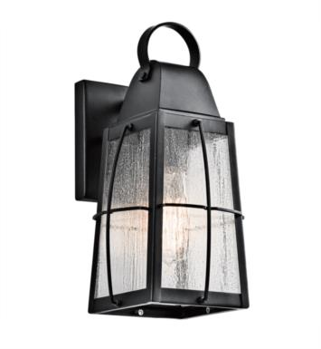 "Kichler 49552BKT Tolerand 1 Light 5 3/4"" Incandescent Outdoor Wall Sconce in Textured Black"