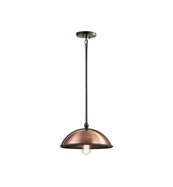 Kichler 42782ACO Sepia 1 Light Pendant in Antique Copper