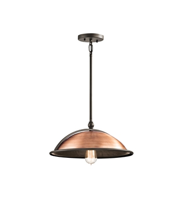 Kichler 42783ACO Sepia 1 Light Pendant in Antique Copper